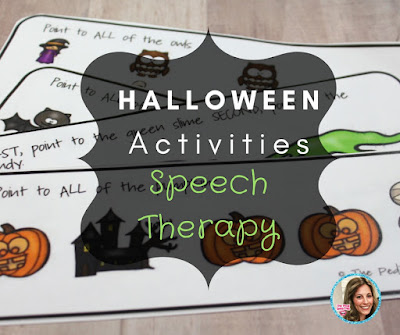 Halloween Speech Language Therapy ideas