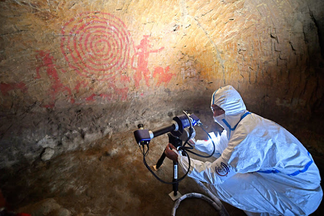 Tomb with ancient mural surveyed near Japan's Fukushima plant