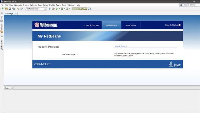 Tampilan Utama NetBeans IDE