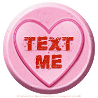 'Text Me' text on Love Heart sweet free image for texting