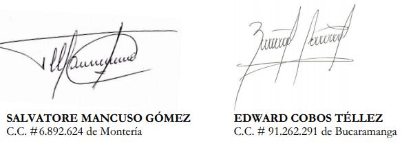 Carta al Presidente de la República doctor Juan Manuel Santos Calderón por Salvatore Mancuso Gómez y Edward Cobos Téllez