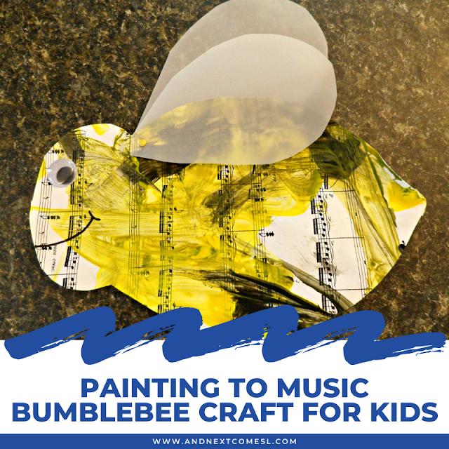 Preschool bumblebee craft inspired by Flight of the Bumblebee