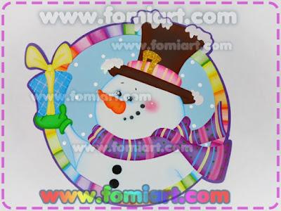 Decoración en foami, invierno, navidad