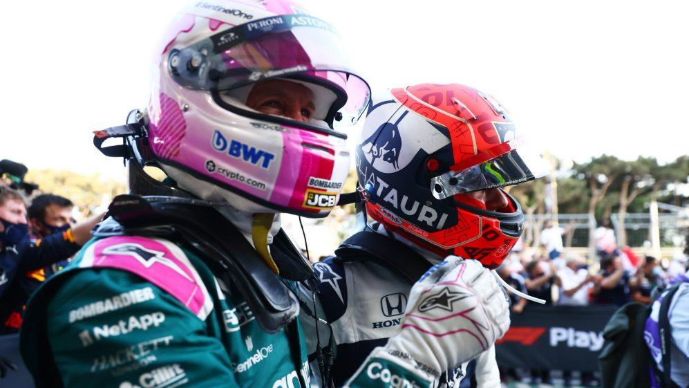 Gasly segurou Norris pelo último lugar do pódio, terminando atrás de Vettel