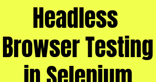 Headless Browser Testing in Selenium Web Driver ~ SDET