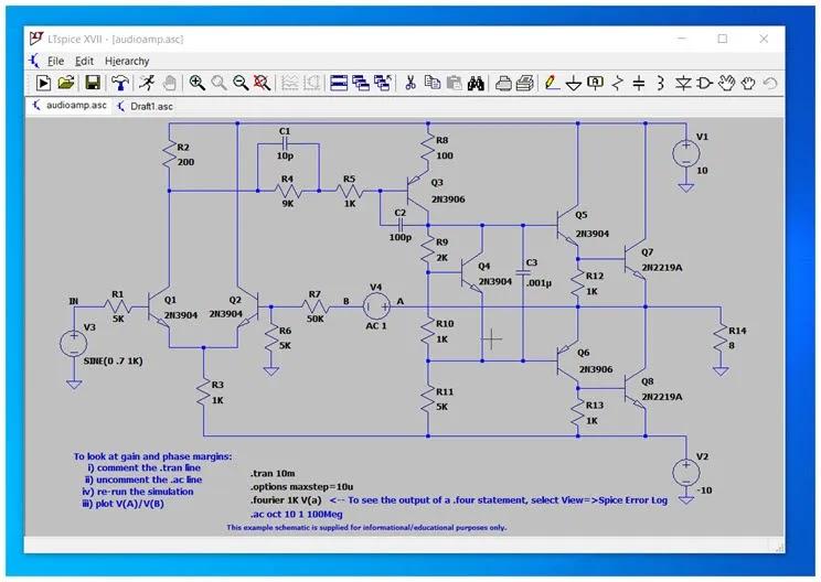 LTspice :   Δωρεάν  εφαρμογή  προσομοίωσης  αναλογικών κυκλωμάτων