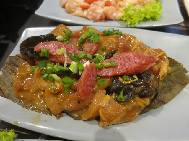 Chef's Signature Chicken with Chinese Sausage and Black Fungus