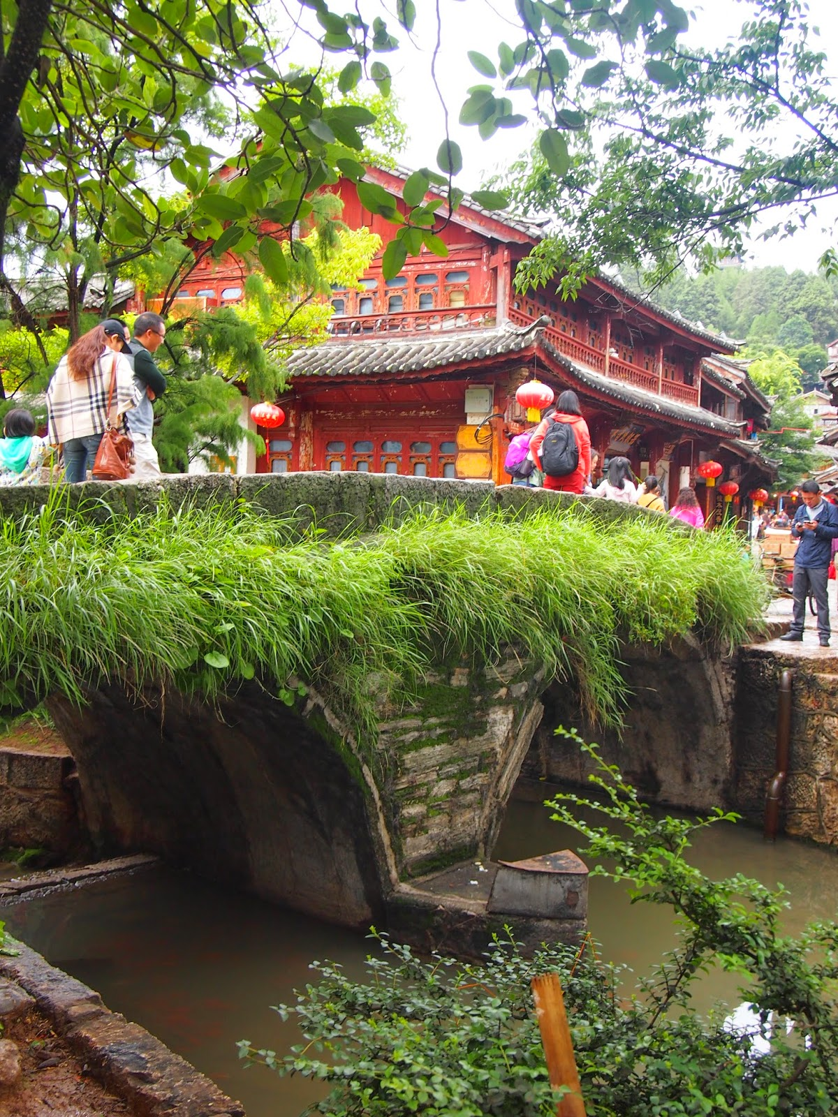 Canals and rives in Lijiang Old Town