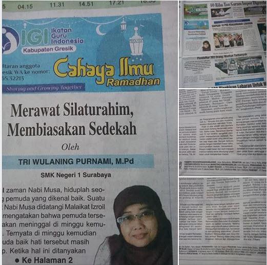 Tulisan Bu Tri Wulaning Purnami,. M.Pd, Guru SMKN 1 Surabaya