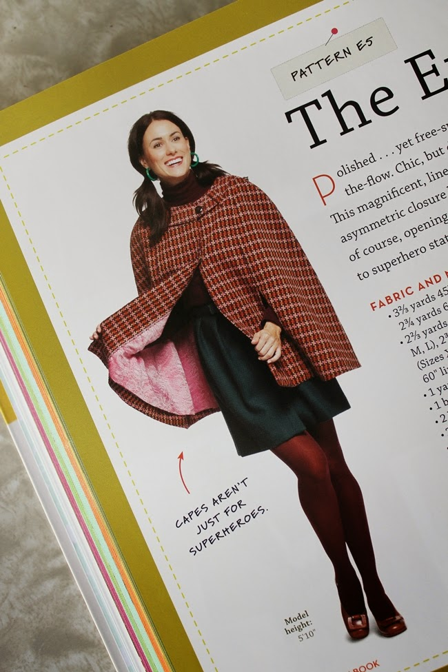 The Evelyn Cape sewing pattern from The Magic Pattern Book by Amy Barickman