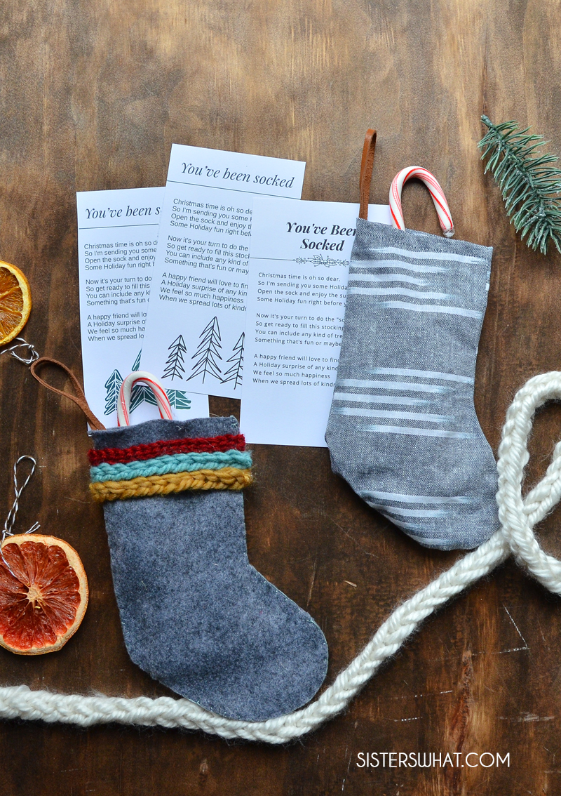 Easy diy christmas stockings printable