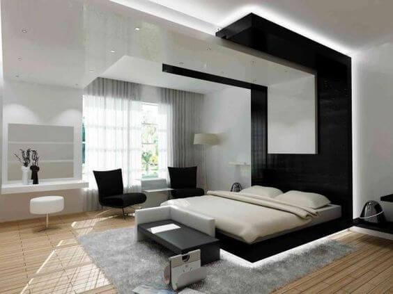 floating led bed for modern decor