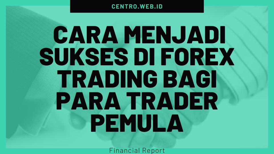 Cara Menjadi Sukses di Forex Trading Bagi Para Trader Pemula