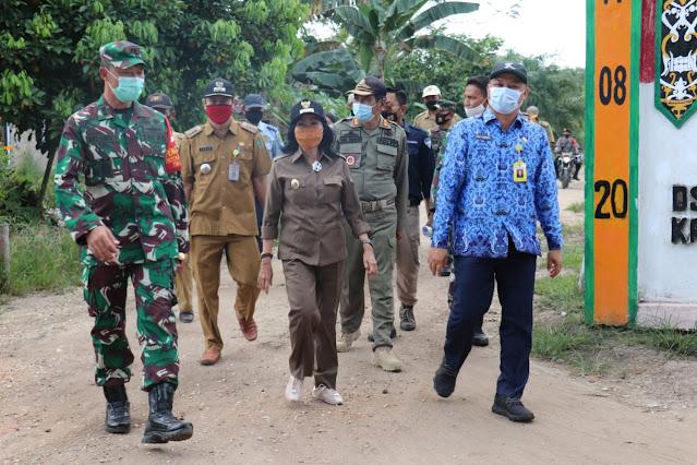 Kepala PUPR Pulpis Sambut Kungker Plt Bupati Pulang Pisau di Kanamit Barat