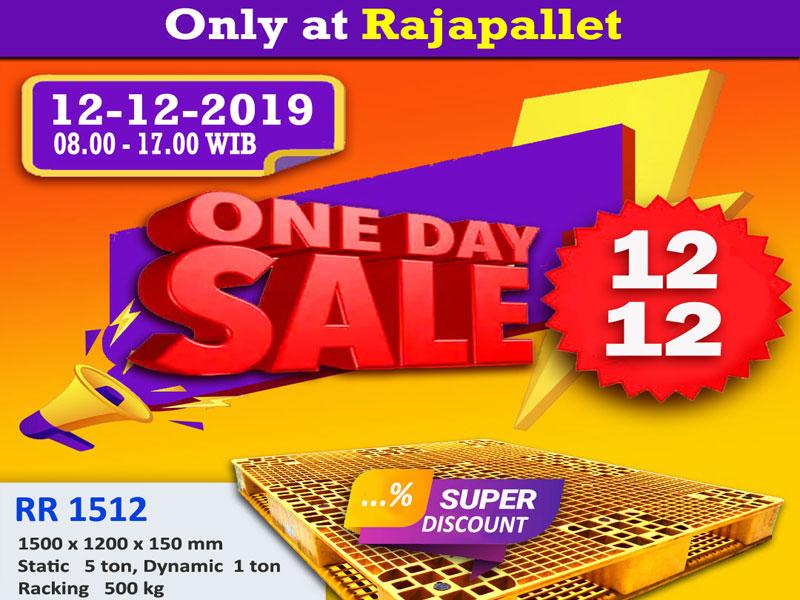 One Day Sale 12-12 | Pallet Plastik Baru dan Bekas