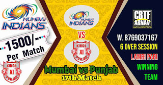 17th Match PBKS vs MI IPL 2021 Today Match Prediction 100% Sure Winner