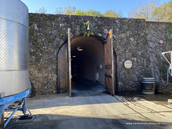 cave entrance at Deerfield Ranch Winery in Kenwood, California