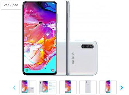 Smartphone Samsung Galaxy A70 128GB Branco 4G