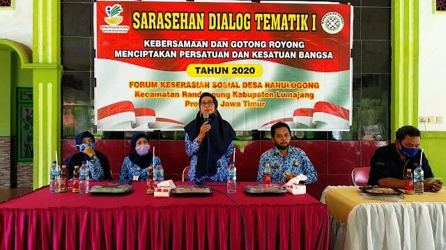 Forum Keserasian Sosial Desa Ranulogong Gelar Sarasehan Dialog Tematik I