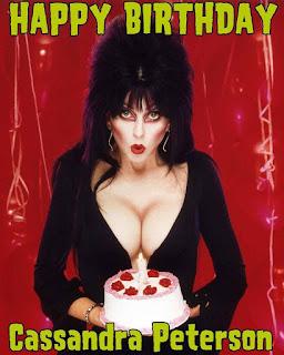 Happy 69th birthday to Cassandra Peterson aka Elvira