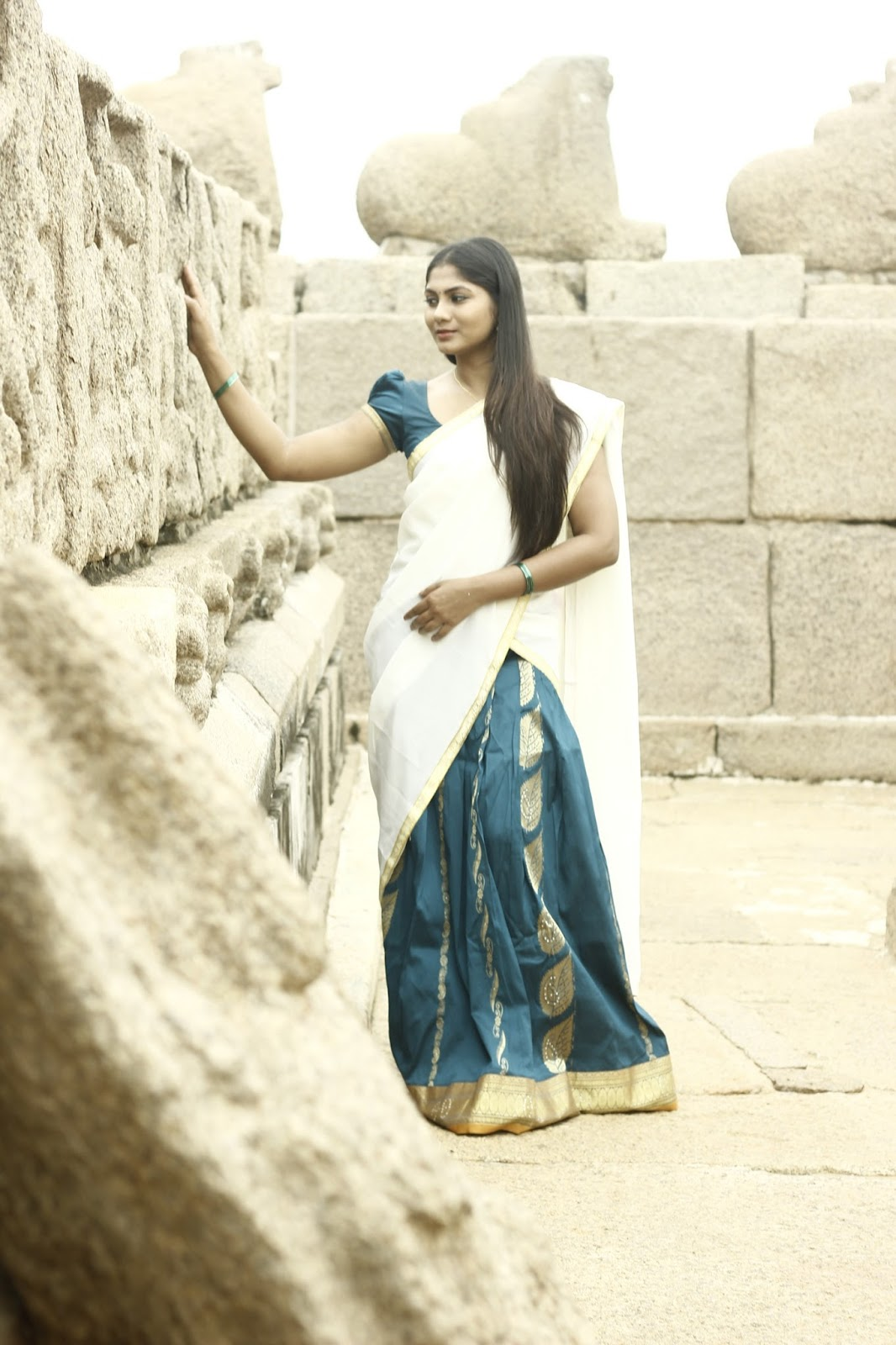 Shruti Reddy latest photos in half saree-HQ-Photo-3