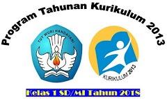 Program Tahunan Kurikulum 2013 Kelas 1 SD/MI Tahun 2018