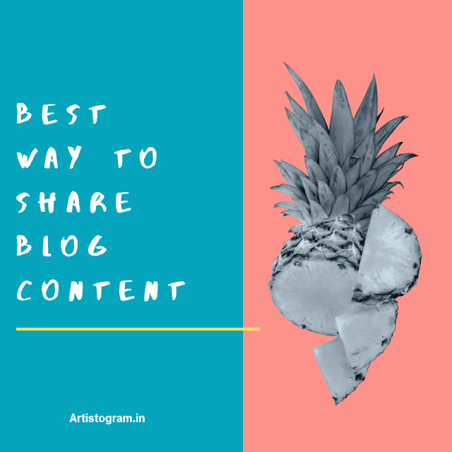 Best way to share blog content – free method