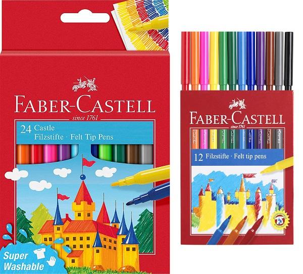 Флумастери Faber-Castell, Фабер Кастел, 12 цвята