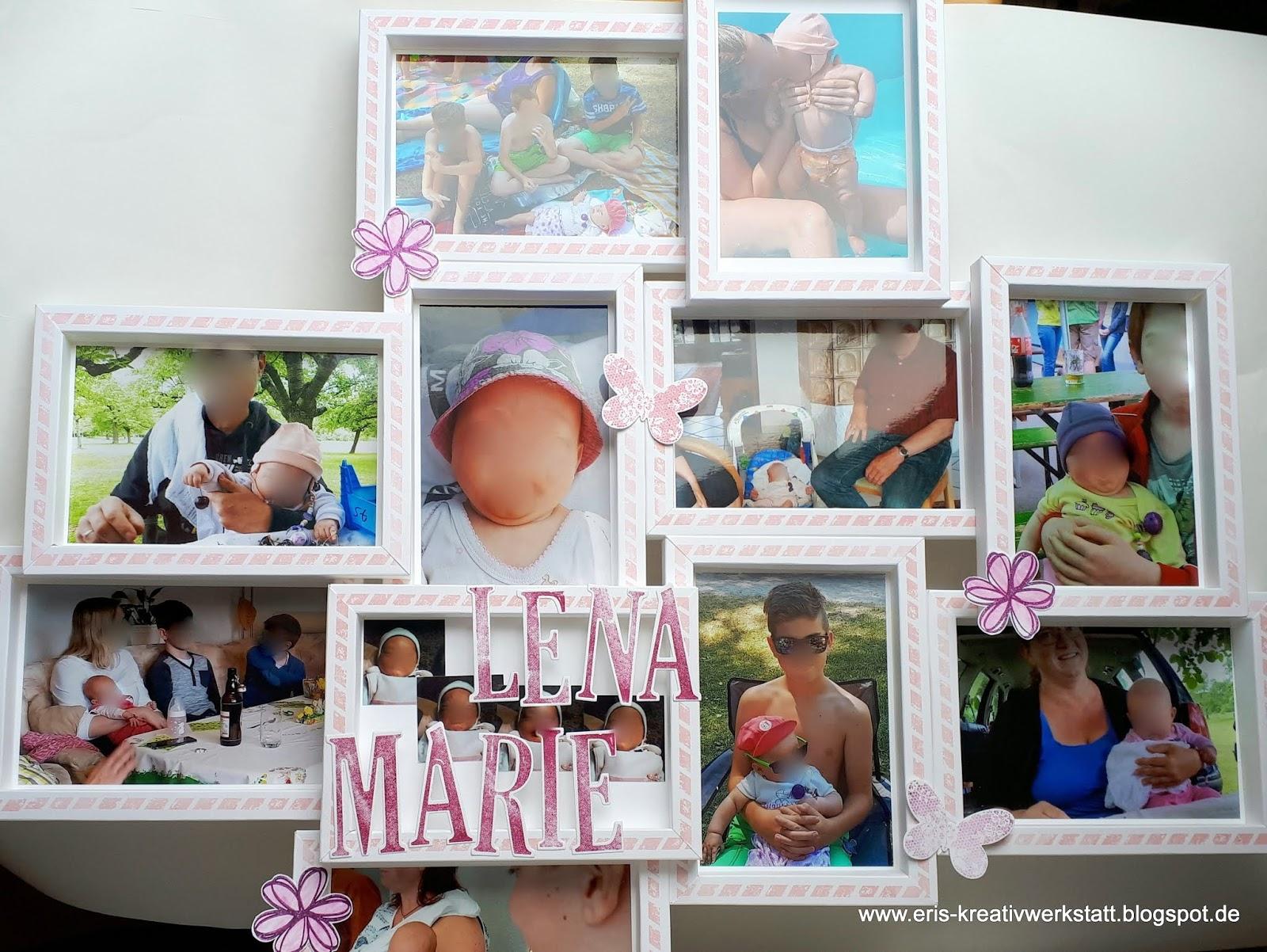 Eri\'s Kreativwerkstatt: Baby-Bilderrahmen-Collage als Geschenk zur Taufe