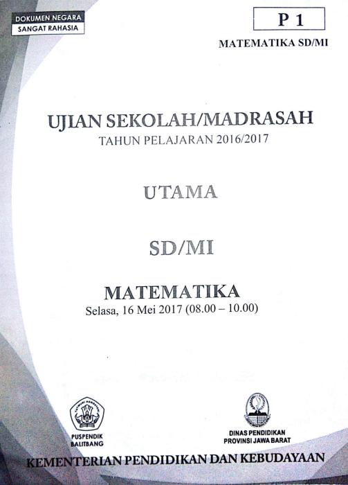 Latihan Soal Dan Jawaban Usbn Matematika Sd 2019