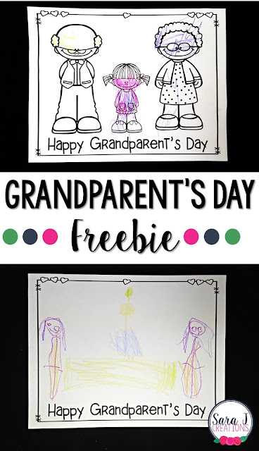 Free Grandparents' Day Cards for kids to color or draw and send as a gift