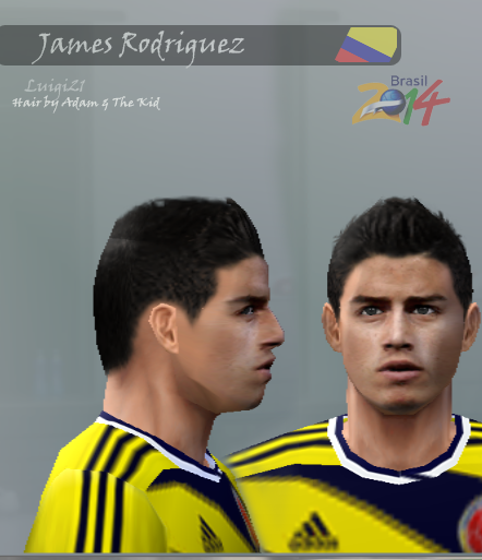 james rodriguez (Colombia) face pes 6