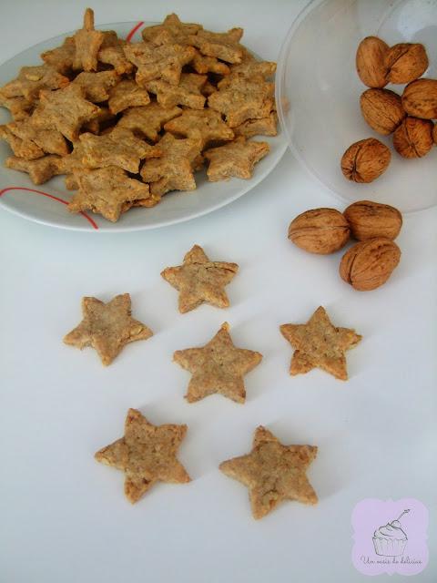 Biscuits salés au fromage et aux noix