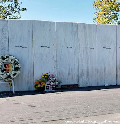 Wall of Names at the Flight 93 National Memorial in Shanksville Pennsylvania