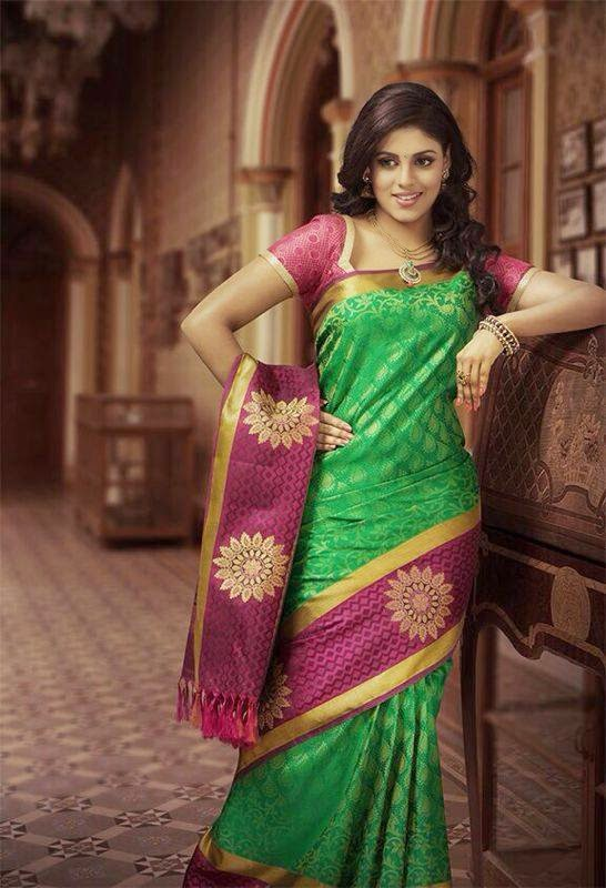 SOUTH INDIAN ACTRESS SILK SAREE PHOTOS