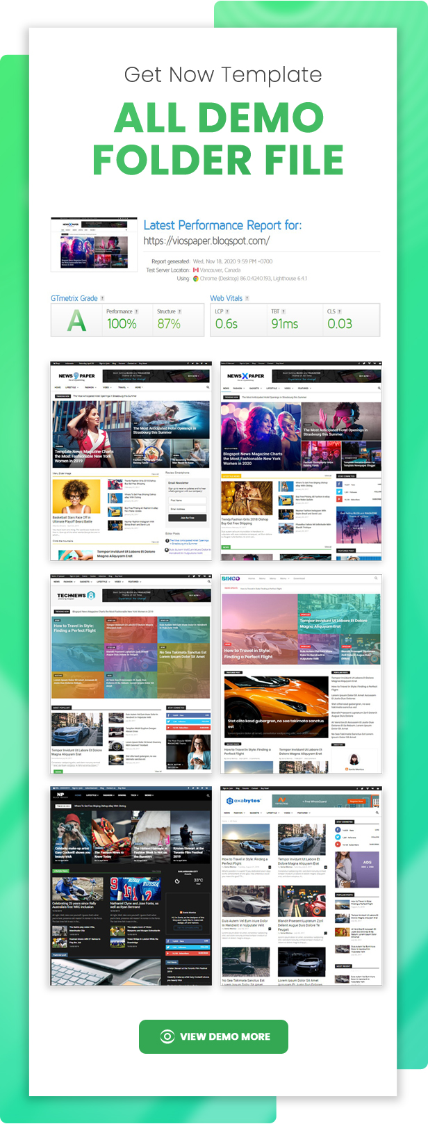 Viospaper Pro - Best Theme Blogger for Magazine