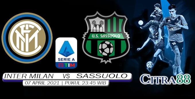 PREDIKSI INTER MILAN VS SASSUOLO 7 APRIL 2021