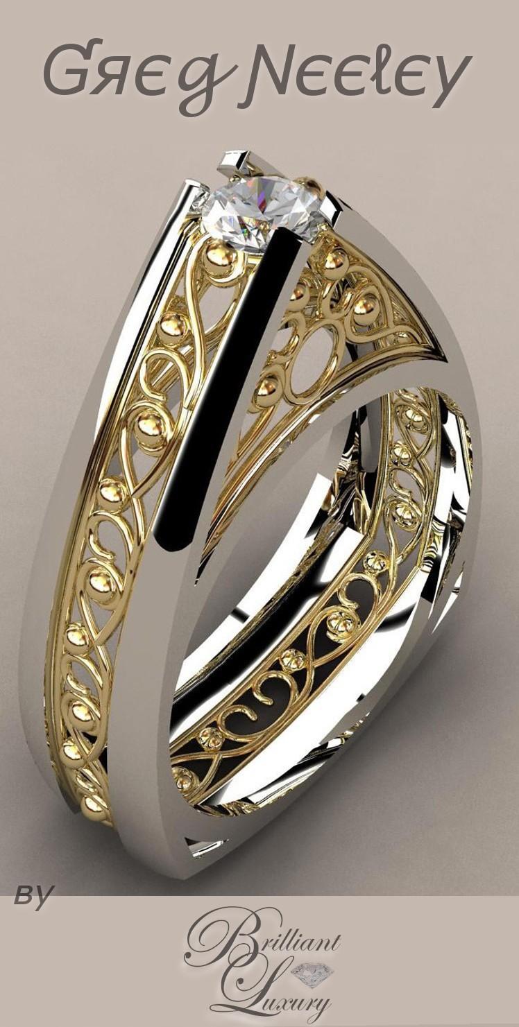 Brilliant Luxury ♦ Greg Neeley Pinnacle Engagement Set
