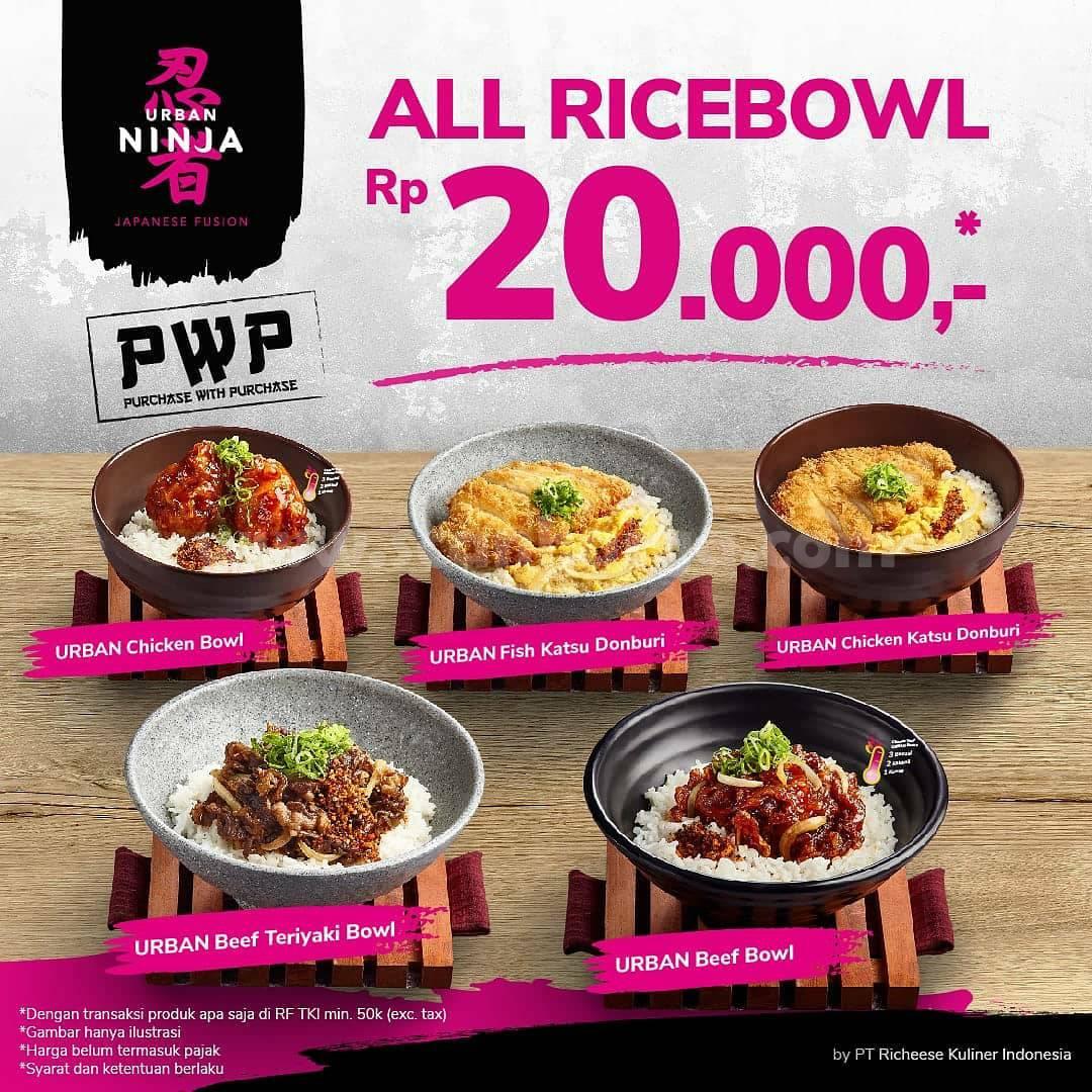 Urban Ninja Promo Harga Spesial – All Rice Bowl hanya Rp 20.000