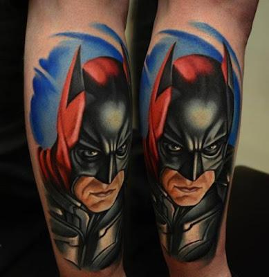 Tatuaje realista de Batman