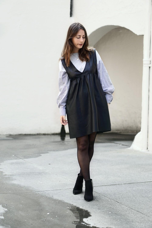robe simili cuir Zara