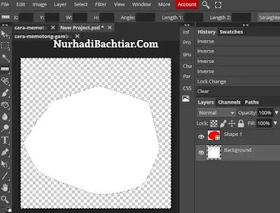 cara memotong gambar di photoshop dengan pen tool 4