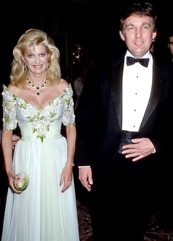 Foto de Donald Trump con su primera esposa