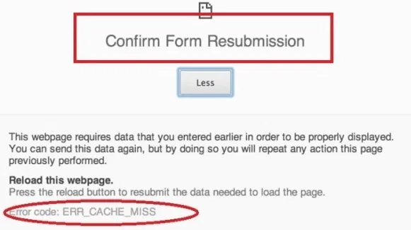 Why Should I Fix Confirm Form Resubmission