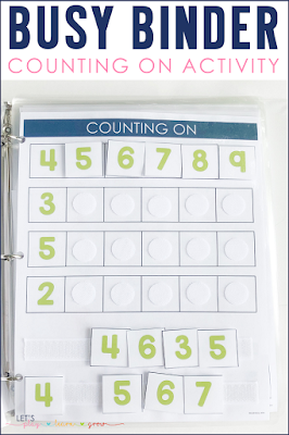 Counting On Busy Binder Activity