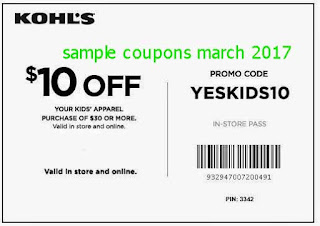 free Kohls coupons for march 2017