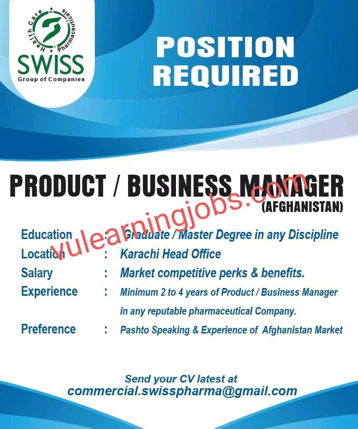 Swiss Pharmaceuticals Pvt. Ltd Jobs In Pakistan May 2021 Latest | Apply Now