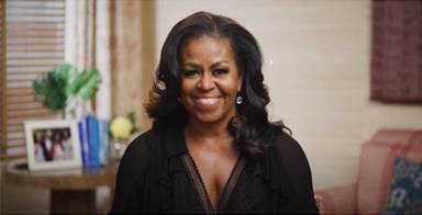 Michelle Obama Presents The Weeknd the 2021 BRIT Award for International Male Solo Artist