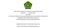 Juknis BOP RA  dan BOS Madrasah Tahun 2022
