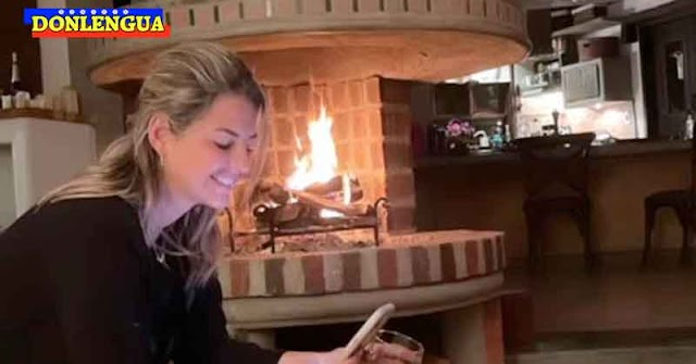 Patricia Schwarzgruber feliz en casa de uno de sus novios multimillonarios